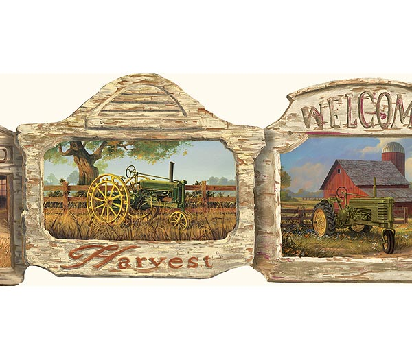 Discontinued tractor wallpaper border for Cheap wallpaper border